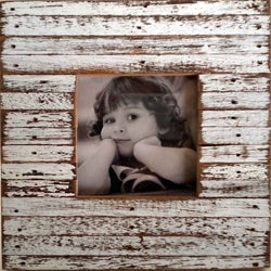 Recycled Wood White Mini Jigsaw Picture Frame (Thailand)