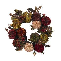 Autumn Hydrangea Peony 22-inch Wreath