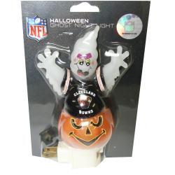 Cleveland Browns Halloween Ghost Night Light