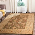 Handmade Farahan Grey/ Ivory Wool Rug (9&#39; x 12&#39;)