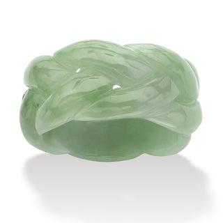 PalmBeach Solid Green Jade Braided Eternity Band Naturalist