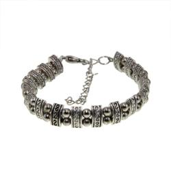 Tibet Silver Hand-carved Tibetan-style Bracelet (China)
