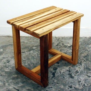 Teak wood Hand-doweled Teak Oil-finished Spa Stool (Thailand)