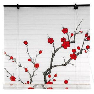 Rice Paper 48-inch Cherry Blossom Shoji Blinds (China)