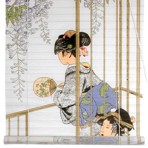 Rice Paper and Bamboo 36-inch Geisha Shoji Blinds (China)