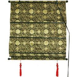 36-inch Shang Hai Tan Black and Gold Blinds (China)