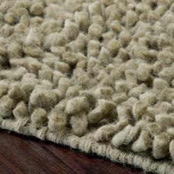 Hand-woven Nimbus Sage Green Wool Rug (5'x8')