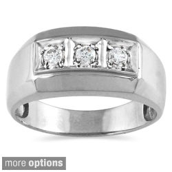 10k Gold 1/4ct TDW Men's Diamond Ring (I-J, I1-I2)