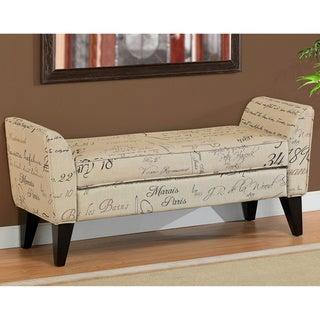 Phoenix Signature Tan Upholstered Bench