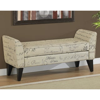 Phoenix Signature Tan Upholstered Bench