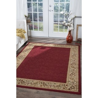 Soho Red Oriental Area Rug (5'3 x 7'3)