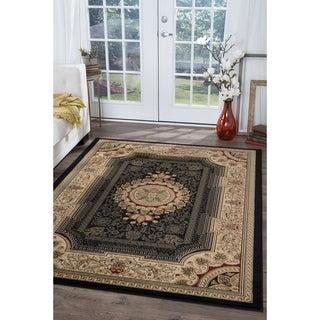 Soho Black Oriental Rug (5'3 x 7'3)