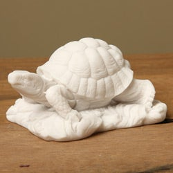 White Bonded Marble Turtle Statue