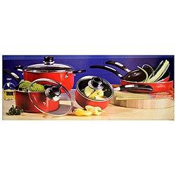 Oster Red Aluminum 8-piece Cookware Set