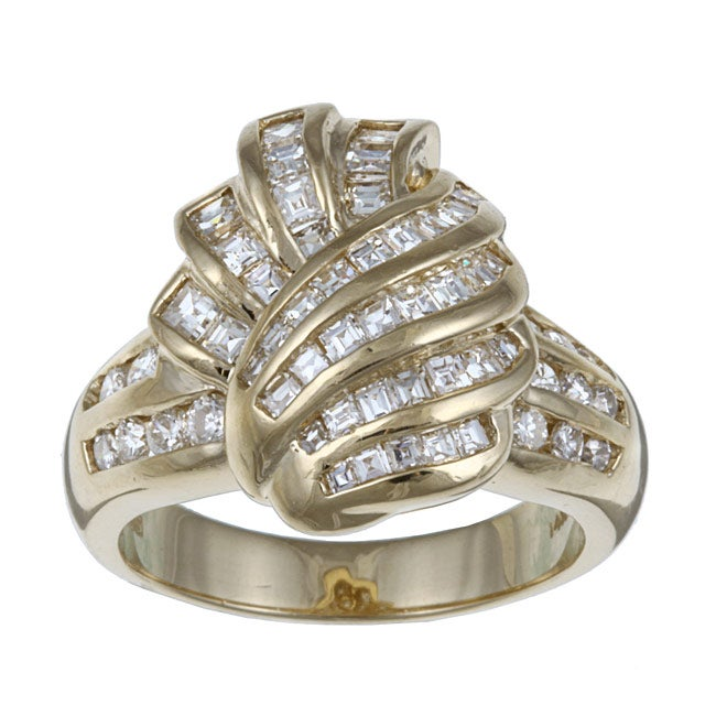 14K Yellow Gold 1 3/8ct TDW Vintage Diamond Knot Ring (H-I, SI1-SI2)