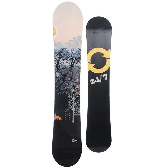 24 Seven Men's Black 'Highway' 152-cm Snowboard