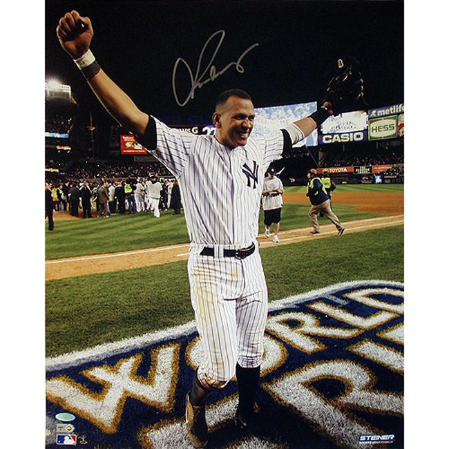 New York Yankees Alex Rodriguez 09' World Series 16x20 Autographed Photo