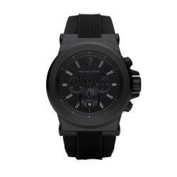 Michael Kors Men's MK8152 Black Silicone Strap Watch