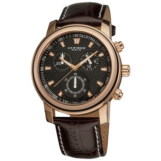 Akribos XXIV Men's Coronis Stainless Steel Chronograph Watch