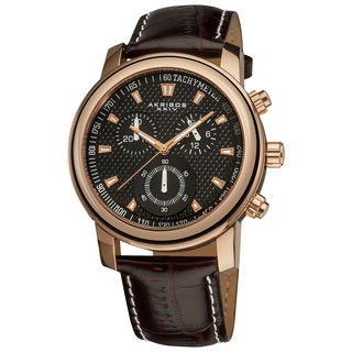 Akribos XXIV Men&#39;s Coronis Stainless Steel Chronograph Watch