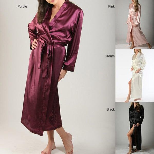 Long Classic Satin Lounge Robe