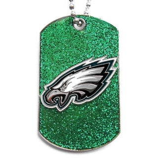 Philadelphia Eagles Fan Glitter Dog Tag Necklace