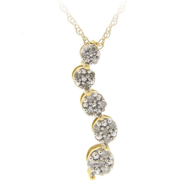 DB Designs 10k Gold 1/8ct TDW Diamond Journey Necklace (I-J, I2-I3)