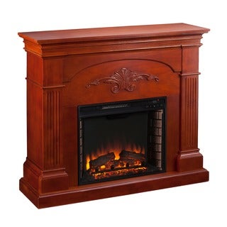 Upton Home Gilbert Mahogany Electric Fireplace