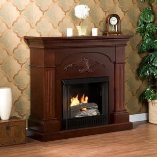 Upton Home Gilbert Mahogany Gel Fireplace
