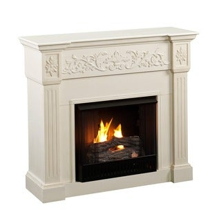 Upton Home Wellington Ivory Gel Fireplace