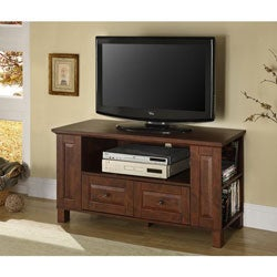 44-Inch Classic Brown Wood TV Stand
