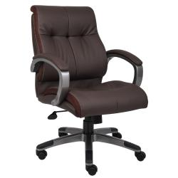 Boss Double Plush Mid-back Chair
