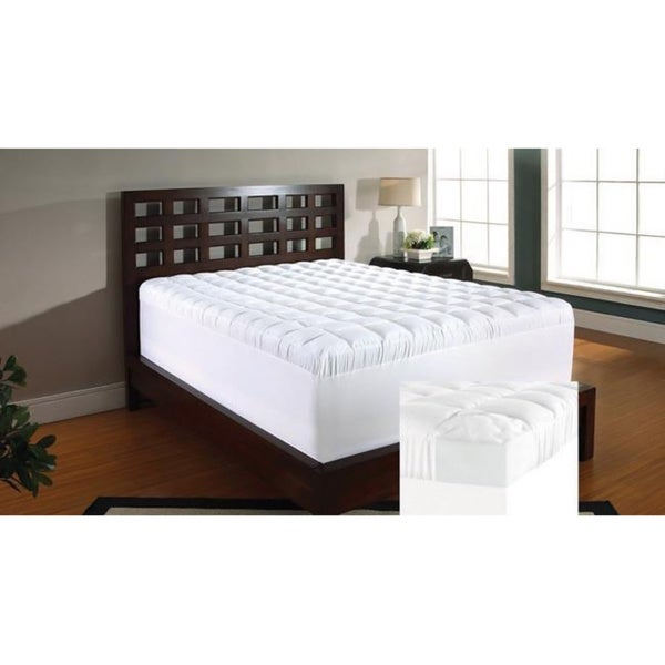 Slumber Solutions 4-inch Twin/ Full-size Memory Foam and 1.5-inch Fiber Mattress Topper