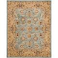 Safavieh Handmade Heritage Mahal Blue/ Gold Wool Rug (5' x 8')