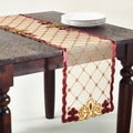 Embroidered Velvet 40-inch Square Tablecloth or Runner