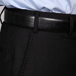 Ferrecci Men's Flat-front Black Pants