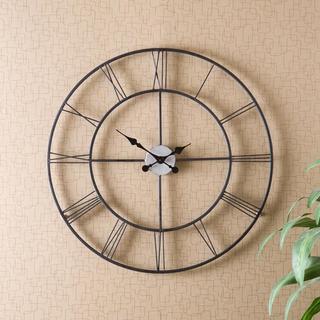 Upton Home Hartley Black Wall Clock