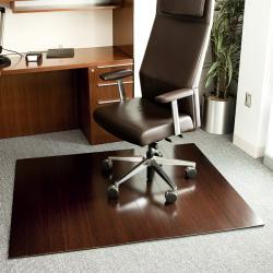 Eco Bamboo Deluxe Rectangular Cherry Chair Mat (60 x 48)