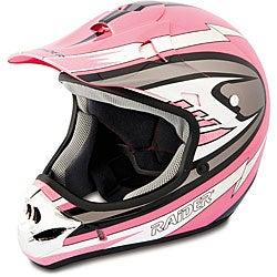 Raider Adult Pink MX 3 Helmet