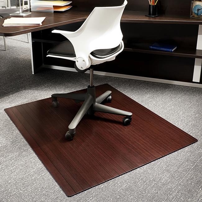 Eco Bamboo Standard Rectangular Cherry Chair Mat (42 x 48)