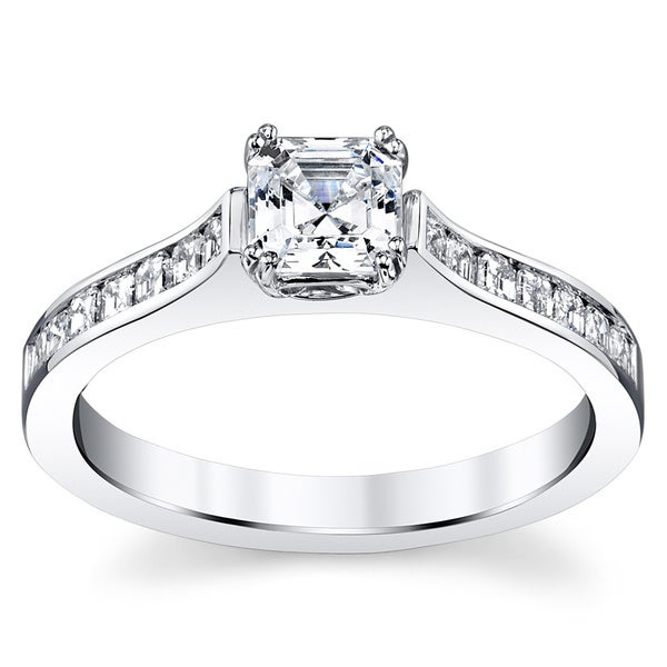 14k White Gold 1ct TDW Diamond Engagement Ring (H-I, VS1-VS2)