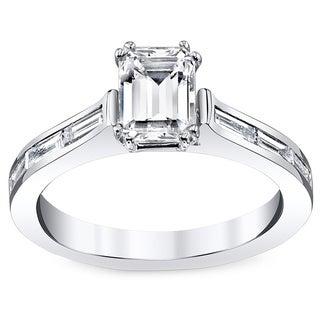 14k White Gold 7/8ct TDW Diamond Engagement Ring (H-I, VS1-VS2)