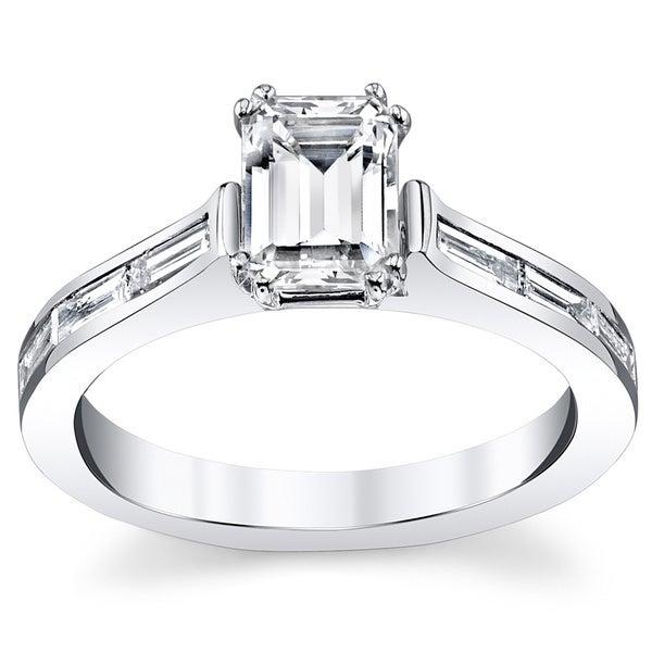14k White Gold 1 2/5ct TDW Diamond Engagement Ring (H-I, VS1-VS2)
