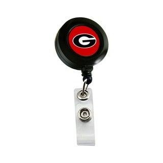Georgia Bulldogs Retractable Badge Reel Id Ticket Clip