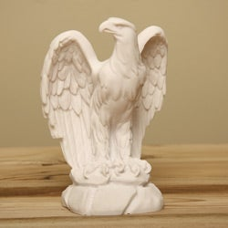 White Bonded Marble Classic American Eagle Statue