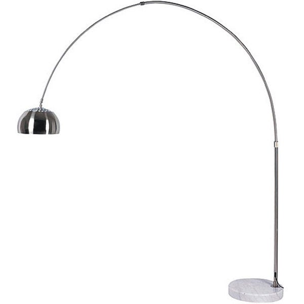 Arch 1-light Stainless Steel/ Brushed Nickel Floor Lamp