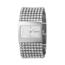 DKNY Women's Crystal Accent Stainless Steel Watch