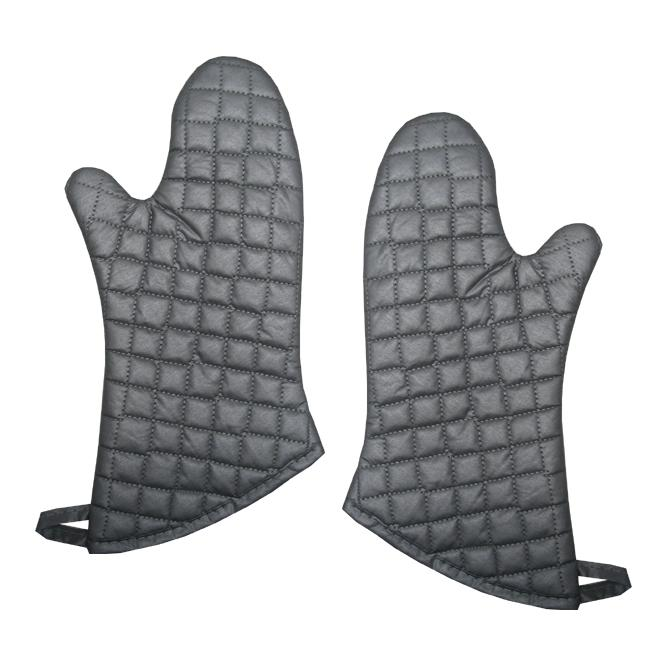 Silver Silicone Oven Mitts (Set of 2)