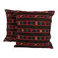Set of Two Cotton 'Desert Night' Cushion Covers (India)