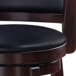 Chandler Espresso Finish 30-inch Swivel Barstool